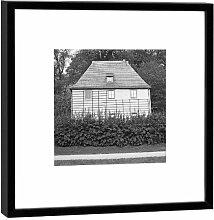 Fotografie im Holzrahmen: Goethes Gartenhaus - Kunstdruck - Format 52 x 52 cm - Rahmenfarbe schwarz - Hochwertiges Wandbild, Geschenkidee oder Souvenir aus Weimar