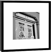 Fotografie im Holzrahmen: Heidelberger Zuckerladen - Kunstdruck - Format 27 x 27 cm - Rahmenfarbe schwarz - Hochwertiges Wandbild, Geschenkidee oder Souvenir aus Heidelberg