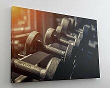 Fotografie Sport Hantel Gewichte Leinwand Canvas