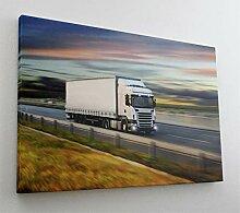 Fotografie Truck LKW Straße Leinwand Canvas Bild