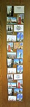 Fotohalter für 24 Fotos Fotovorhang Postkarten Fotowand im Format 15 cm x 10 cm