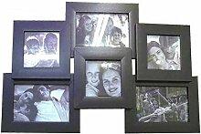 Fotohalter oder Bilderrahmen für 6Fotos schwarz