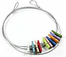 Fotoleine Clipkette KOLOR KLIP Magnete für Magnettafel Kühlschrank Whiteboard Pinnwand 10 Kühlschrankmagnete Kinder