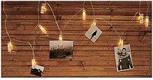 Fotoleine Lichterkette mit Clip für 10 Fotos, 10
