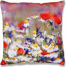 Fotoprint Dekokissen 45x45 cm Kissen mit Motiv Fotodruck, stilvoll und dekorativ in vielen verschiedenen Designs erhältlich (Blumenwiese)