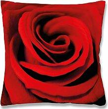 Fotoprint Dekokissen 45x45 cm Kissen mit Motiv Fotodruck, stilvoll und dekorativ in vielen verschiedenen Designs erhältlich (Rose)