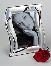 Fotorahmen Bilderrahmen silber-Herz 10x15 cm Art.