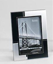 Fotorahmen, Bilderrahmen silber schwarz für 10x15cm rechteckig 19x14cm Formano (11,90 EUR / Stück)