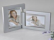 Fotorahmen für zwei Fotos, 41 cm, silber