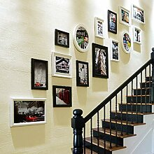 Fotorahmen Galerie 15 Stück, Collage Wand und