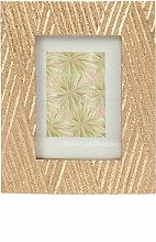 Fotorahmen, goldfarben mit Streifenmuster 9x6