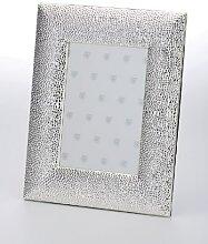 Fotorahmen Schuppendesign versilbert 10 x 15 cm