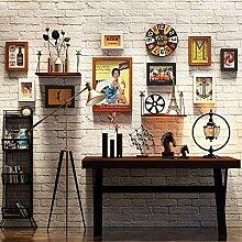 Fotorahmen-Set, 9-tlg, Collagen-Bilderrahmen-Set