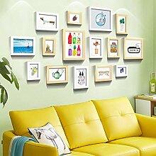 Fotorahmen Wanddekoration, Holzwand und