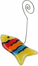 Fotoständer 35x73mm Fisch aus Glas gelb/multi