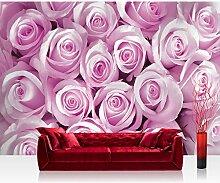 Fototapete 254x184 cm PREMIUM Wand Foto Tapete Wand Bild Papiertapete - Blumen Tapete Rosen Blüten Pflanze rosa - no. 363