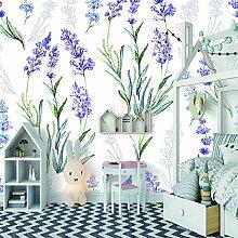 fototapete 300x210CM Lila Blumen Lavendel,Vlies