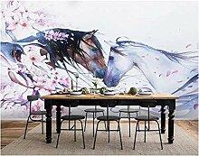 Fototapete 300x210cm Zwei Pferde,Fototapeten Vlies