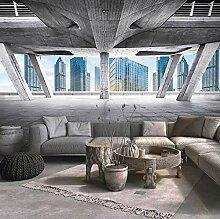 Fototapete 3D 200cmx150cm Graues Bürogebäude