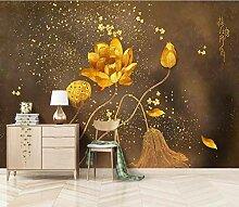 Fototapete 3D - 350X256cm Tapetes - Gold Bemalt
