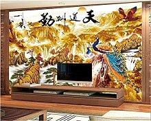 Fototapete 3D Art Deco Moderne Wanddeko Goldener