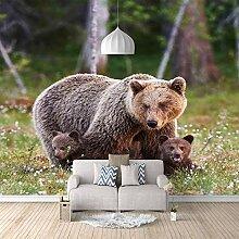 Fototapete 3D Bär Art Design Tapete Fototapeten