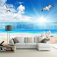 Fototapete 3D Beach Seashell Seascape Murals