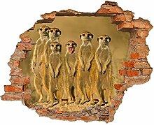 Fototapete 3D Bild Tapete Loch in der Wand