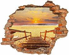 Fototapete 3D Bild Tapete Loch in der Wand Treppen
