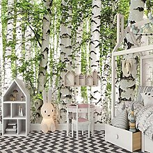 Fototapete 3D Birkenwald Vlies Wand Tapete