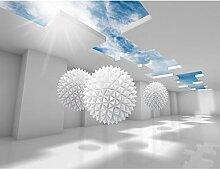 Fototapete 3D - Blau Vlies Wand Tapete Wohnzimmer