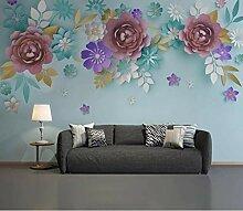 Fototapete 3D Blumen Tapete Wohnzimmer Wandbilder