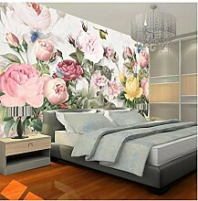 Fototapete 3D Blumen Wandbilder Spastoral