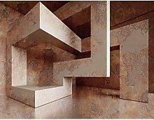 Fototapete 3D - Braun 396 x 280 cm Vlies Wand