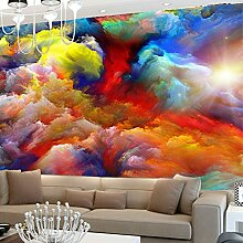 Fototapete 3D Bunte Wolken Fototapete Für
