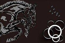Fototapete 3D Chinesisch Abstrakt Pferd Wandbild