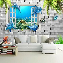 Fototapete 3D-Delphin-Unterwasser
