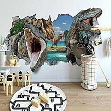 Fototapete 3D Dinosaurier mit offenem Mund