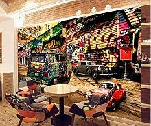 Fototapete 3D Diy Tapete 3D-Hip-Hop-Graffiti-Bus