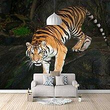 Fototapete 3D Dunkler Tiger 3D Wandbilder Für