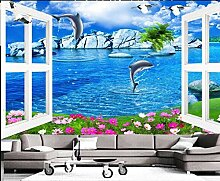 Fototapete 3D Effekt 3D Tapete Delphin Mit