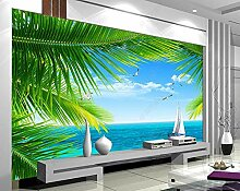 Fototapete 3D Effekt 3D Tapete Küstenlandschaft