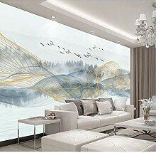 Fototapete 3d effekt Abstrakte Landschaftsmalerei