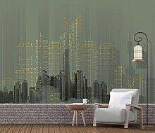 Fototapete 3D Effekt Abstrakte Stadtnachtszene