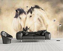 Fototapete 3D Effekt Abstraktes Retro-Pferd Modern