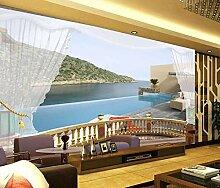 Fototapete 3D Effekt Balkon Mit Meerblick Insel