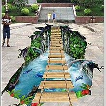 Fototapete 3D Effekt Benutzerdefinierte Bodenbelag
