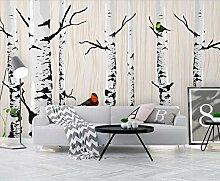 Fototapete 3D Effekt Birkenwald Modern Tapete 3D