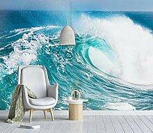 Fototapete 3D Effekt Blaue Ozeanwellen Wandbilder
