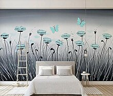 Fototapete 3D Effekt Blaues Blumenrohr